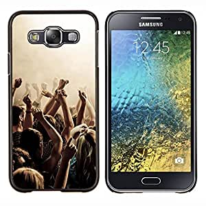 KLONGSHOP // Cubierta de piel con cierre a presión Shell trasero duro de goma Protección Caso - Música Partido Punk - Samsung Galaxy E5 E500 //
