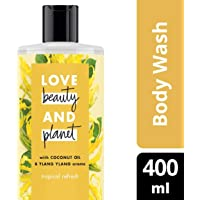 Love Beauty And Planet Coconut Oil and Ylang Ylang Tropical Refresh Bodywash, 400ml