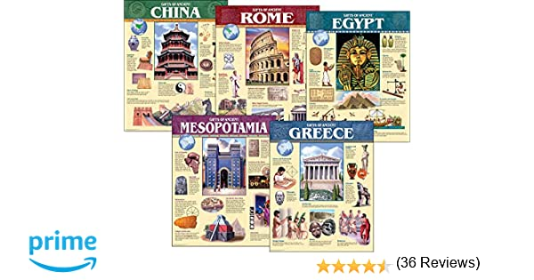 Amazon.com : Creative Teaching Press Ancient Civilization, 5-Chart ...