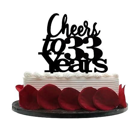Amazon.com: Cheers a 33 años tarta 33th cumpleaños ...