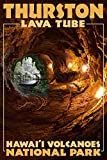 Hawaii Volcanoes National Park - Thurston Lava Tube (24x36 SIGNED Print Master Giclee Print w/ Certificate of Authenticity - Wall Decor Travel Poster)