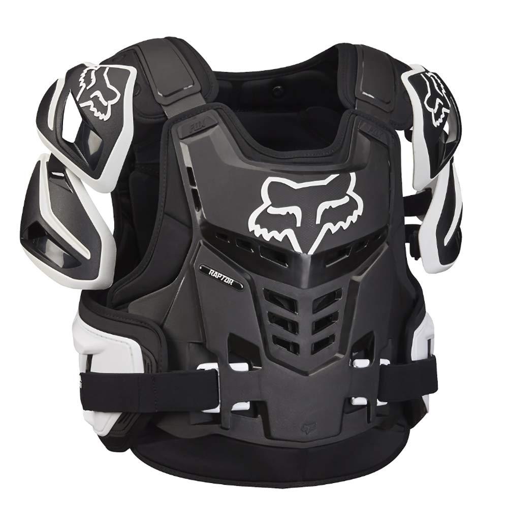 Fox Racing Adult Raptor Vest-Black/White-S/M