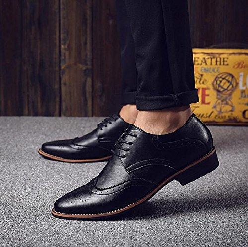 LHLWDGG.K Zapatos De Vestir Casuales De Los Hombres De La Punta De Los Zapatos De Los Hombres, Negro, 8.5 8.5|black