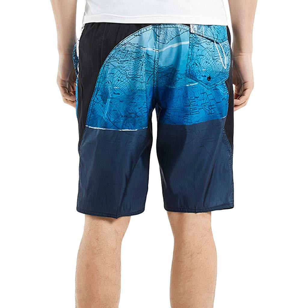 FRAUIT Bermuda Mare Uomo Taglie Forti Pantaloncino Uomini A Compressione Costume da Bagno Ragazzo Classico Oversize Plus Size Shorts Running Pantalone Corto Stampato Tronchi per la Spiaggia