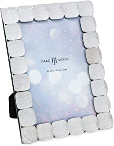 Isaac Jacobs Glittered Decorative Jewel Picture Frame, Photo Display & Home Décor (4x6)