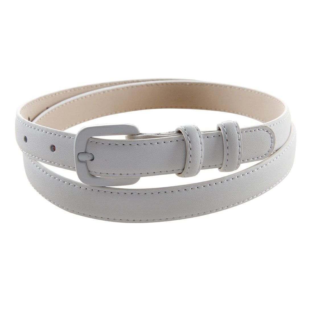 Bpstar Womens Skinny Leather Belt Solid Color with Pin Buckle Simple Waist Belts