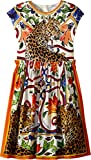 Dolce & Gabbana Kids Girl's Short Sleeve Dress (Big Kids) Natural Print 8