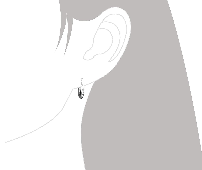 Sterling Silver Hoop Earrings 14mm Image 3