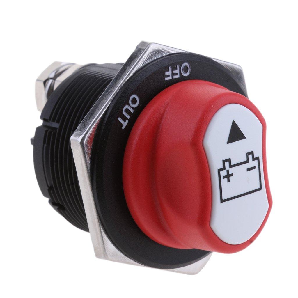 Rot 200A Baoblaze 1 St/ück Batterietrennschalter Universell Autobatterie Schalter Trennschalter Batteriehauptschalter Stromunterbrecher