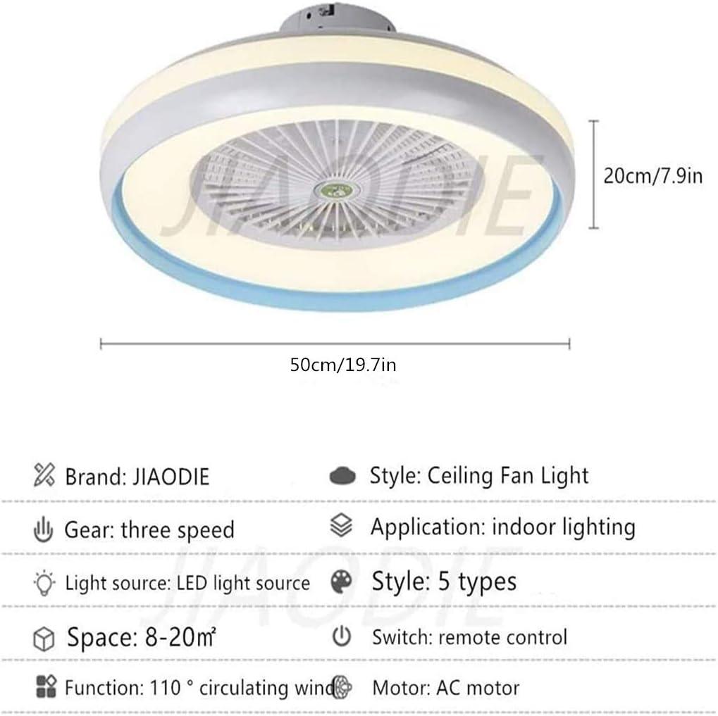 LED Deckenventilator Mit Beleuchtung Kreative Moderne Dimmbar Fan Deckenleuchte Mit Fernbedienung Leise Kinderzimmer Schlafzimmer Wohnzimmer Beleuchtun,Schwarz /Ø50CM,Schwarz