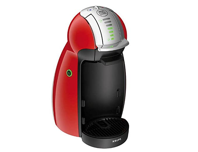 Krups Dolce Gusto - Máquina de café (Automática, 1500 W, 15 bar, 0.6 L, con bandeja), color rojo: Amazon.es: Hogar