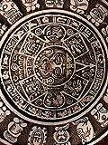 "HISTORY MAYAN AZTEC CALENDAR SUN SCULPTURAL WALL RELIEF 17"" Hand Made in USA by www.NEO-MFG.com"