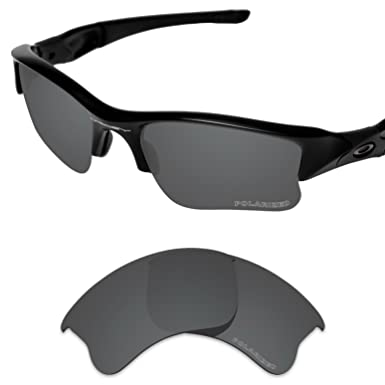 b6f5122ecd Tintart Performance Lenses Compatible with Oakley Flak Jacket XLJ Polarized  Etched-Carbon Black