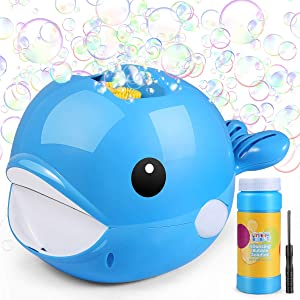 Fane Bubble Machine, Bubble Blower with Bubble Solution Included, Fun Bubbles Blowing Toys for Kids, Best Birthday Gift for Boys and Girls