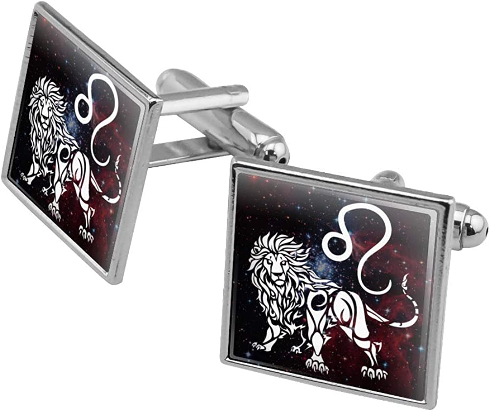 Silver Toned Etched North Dakota State Flag Cufflinks