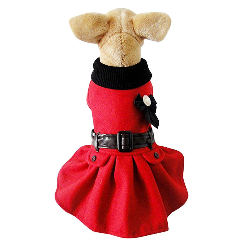 Dog Pet Winter Warm Dresses Jacket Coat Outfit Sweatshirt Clothes Dog Santa Claus Costume wear
