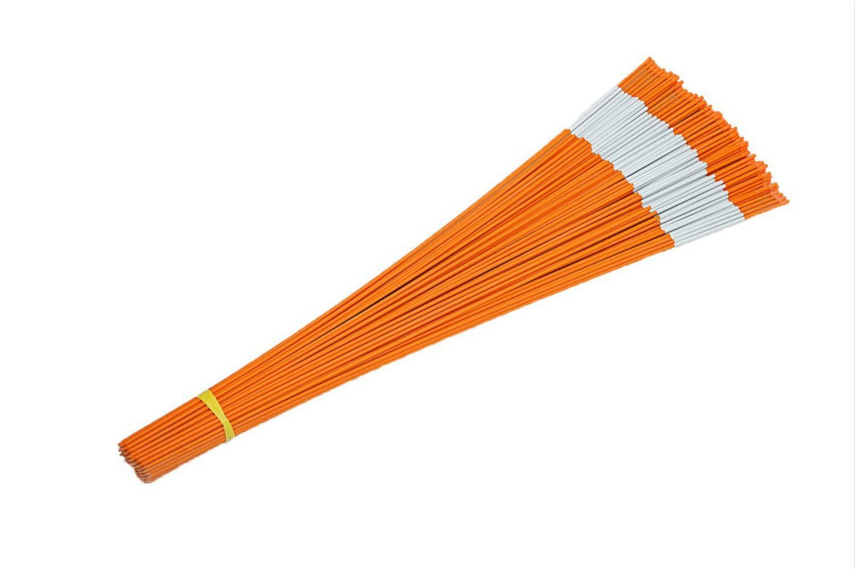 FiberMarker 60-Inch Reflective Driveway Markers Orange 20-Pack 5/16-Inch Dia Solid Driveway Poles for Easy Visibility at Night ... by FiberMarker (Image #6)