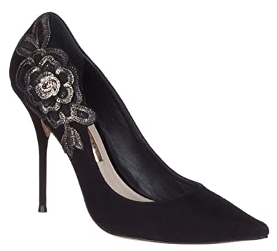 fcb808f7f49e Sofia Webster Women s Black Suede  Winona  Floral Embroidery Pumps Heels  Shoes