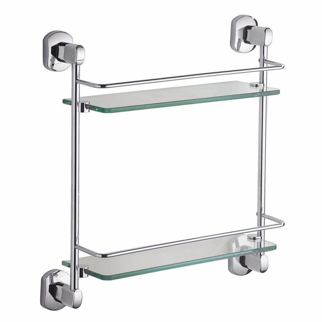 LAONA Modern European alloy chrome plated oval base, bathroom pendant set, towel bar, toilet paper rack,Rack 2