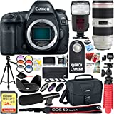 Canon EOS 5D Mark IV 30.4 MP Digital SLR Camera with EF 70-200mm f/2.8L IS II USM Lens + 128GB SDXC Memory Card & Microphone Deluxe Filter Bundle