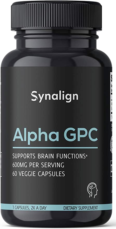 Alpha GPC Choline 600mg Per Serving   60 Capsules - Beginner Nootropic Supplement for Brain Support + Focus + Sleep + Energy - Made in USA