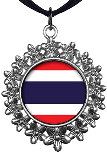 GiftJewelryShop Ancient Style Silver Plate Argentina Flag Christmas Wreath Charm Pendant Necklace
