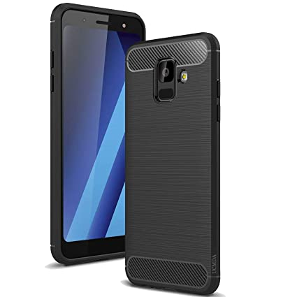 promo code e86fc 1f3bd Samsung A8 Phone Case 2018, UCMDA [Carbon Fiber Pattern] Soft Silicone Gel  Protective Case [Drop Protection][Anti-Scratch], Slim Flexible Durable ...