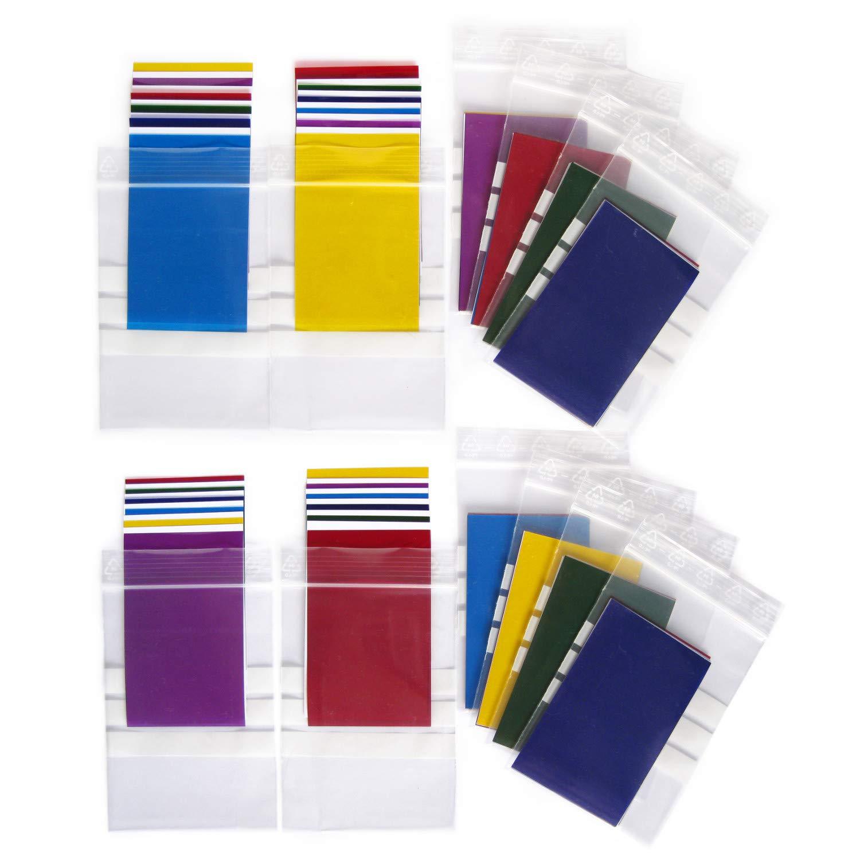 12 Juegos de filtros de colores de gel transparentes de Ciensaci/ón 80 x 50 mm para experimentos pr/ácticos en clases de ciencias