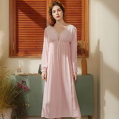 Pijama para Mujer Pijama Sexy para Mujer camisón de algodón XL ...