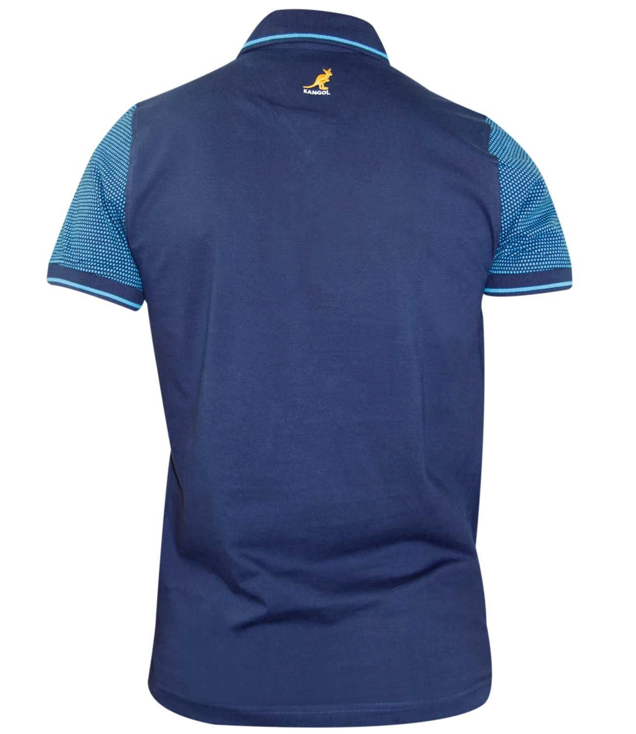 d3f0b56d Kangol Mens Polo T Shirt Contrasted Top Self Patten Panels: Amazon.co.uk:  Clothing