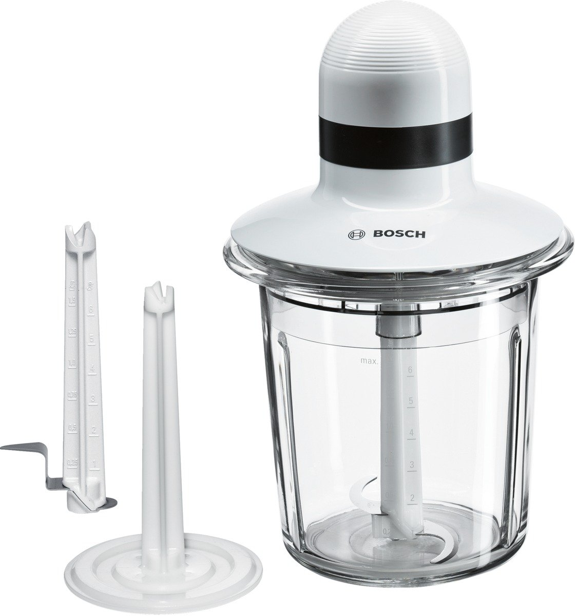 Bosch MMR15A1 Food Processor, 1.5 Litre, White [Energy Class A] BSH Home Appliances Ltd