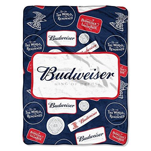 Budweiser Throw (The Northwest Company Budweiser, Bud Badges Micro Raschel Throw, 46