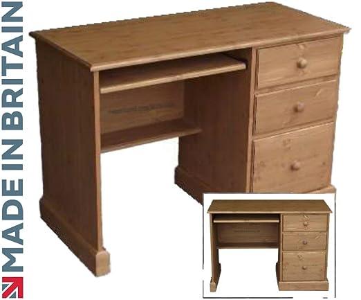 Madera de pino maciza escritorio, hecha a mano y encerado solo ...