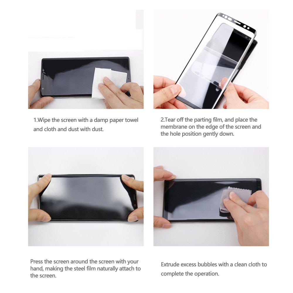 Panzerglas Schutzfolie für Samsung Galaxy S9 Vollständige Abdeckung Displayschutzfolie 3D Anti-Kratzer Samsung S9 Gehärtetem Glas 9H Kristall-Klar Schutzfolie für Galaxy S9 (2 Stück, Schwarz)