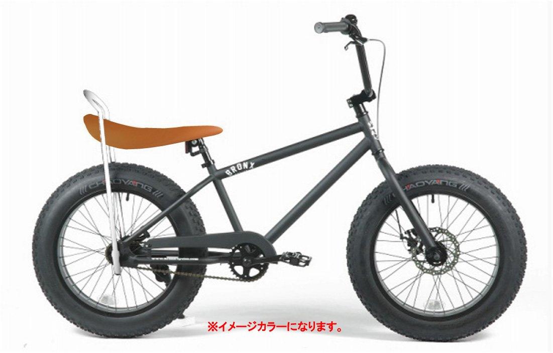 BRONX 20nch FAT-BIKES 【ブロンクス 20inchファットバイク】 COLOR:マットブラック×ブラウンレザーサドル ※フェイクレザー仕様 B00VCNMJ1W