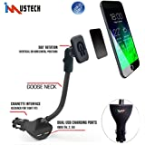 iMustech Magnetic Car phone Mount with dual USB Car Charger (DC5V, 2.1A/2.4A/1A) for iPhone 6s, 6s Plus, 6, 6 Plus, Samsung Galaxy S6, S6 Edge, Sony, Moto, LG and Other Smartphone