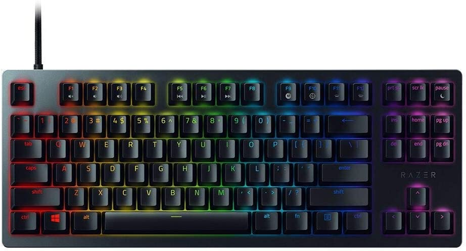 Razer Huntsman Tournament Edition TKL Tenkeyless Gaming Keyboard: Fastest Keyboard Switches Ever - Linear Optical Switches - Chroma RGB Lighting - PBT Keycaps - Onboard Memory - Classic Black