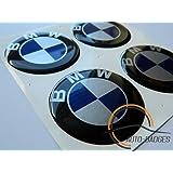 bmw Lot de 4 caches moyeux pour plastique polyuréthane Badge/emblème 60mm