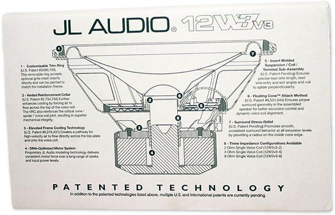 Amazon.com: JL Audio 12W3v3-8 Single 8 ohm 12