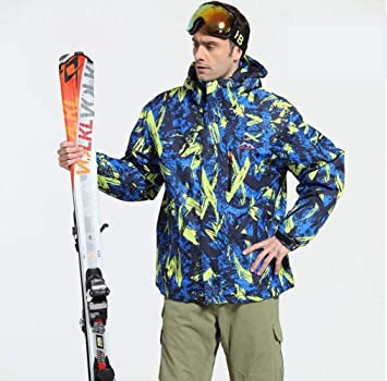 YG Chaquetas para Hombres Esquí Sobre Hielo Snowboard Snowboard Snowboard Alpinismo a Prueba de Viento Chaqueta de Algodón Impermeable para Deportes Al Aire ...