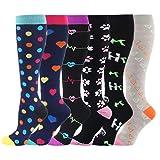 HLTPRO Compression Socks for Women & Men - 6 Pairs