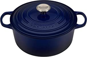 Le Creuset 5 1/2 QT Round Cast-iron Dutch Oven - Indigo