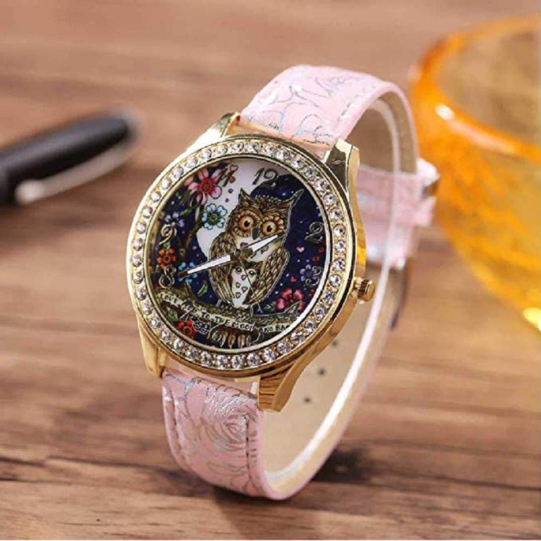 TOPOB Reloj de Cuarzo para Mujer, diseño de búho con ...