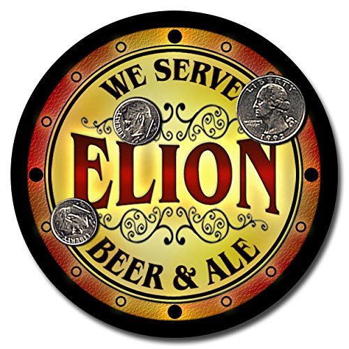 elion-family-name-beer-and-ale-rubber-drink-coasters-set-of-4