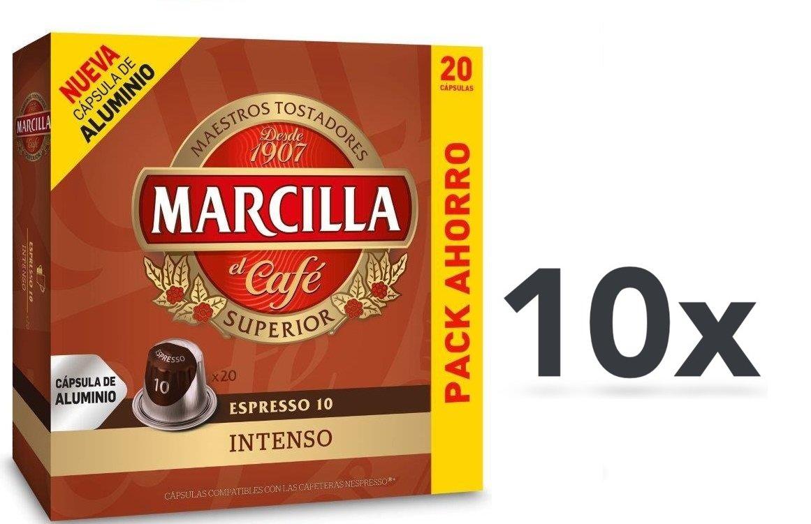 Capsulas Compatibles Nespresso®* Marcilla Intenso 200 Unidades ...