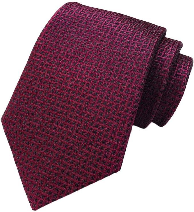 ADELINA 2019 poliéster corbatas jacquard 8 cm rayas corbata ...
