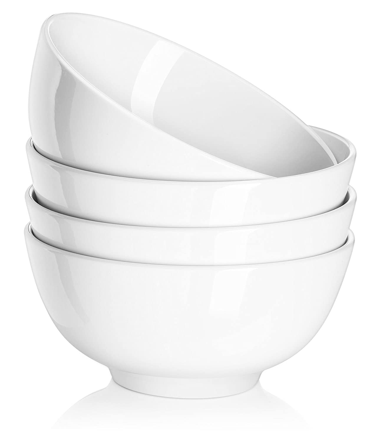 Dowan Ceramics Soup/cereal Bowl, 4.5-inch Winter Frost White (Set of 8) Sihai 010101150514014