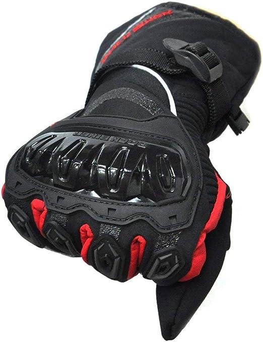 Gants Doigts Complets Imperm/éable et Anti Glisse avec Protection des Articulations Gants Coupe-Vent pour Scooter et Moto ISSYZONE Gants Moto Hiver