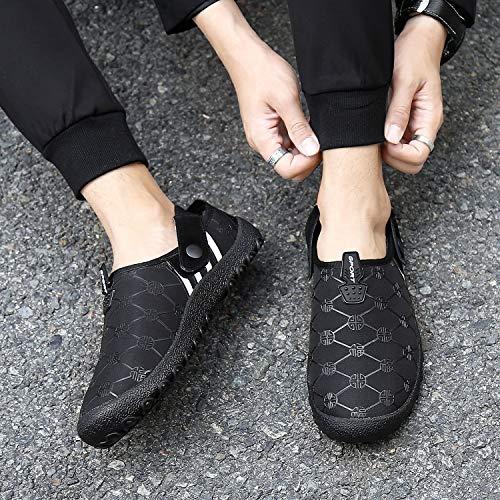 Femmes 9888 Chaussures Hommes Pantoufles Slippers Peluche Intérieure Silver Doux Doublure noir Chaud Hiver Accueil river AUnxwCqTE