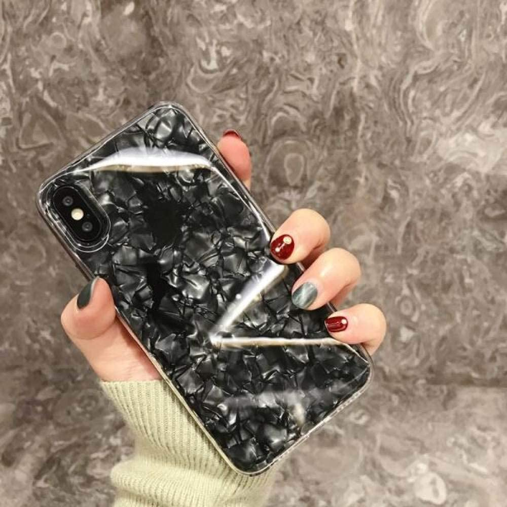 HSXQQL Luxury Glitter Candy Color Pink White Bling Silicone Clear Soft Phone Case for Samsung Galaxy S7 Edge S8 S8Plus S9 S9Plus Note8,Black,for J2 Prime